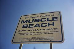 THE muscle beach (romanalilic) Tags: california santa beach sign la los angeles muscle monica