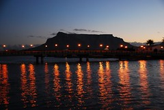 Table Mountain from Woodbridge Island, Milnerton (Harris S) Tags: bridge sunset southafrica lights twilight lagoon tablemountain milnerton woodbridgeisland