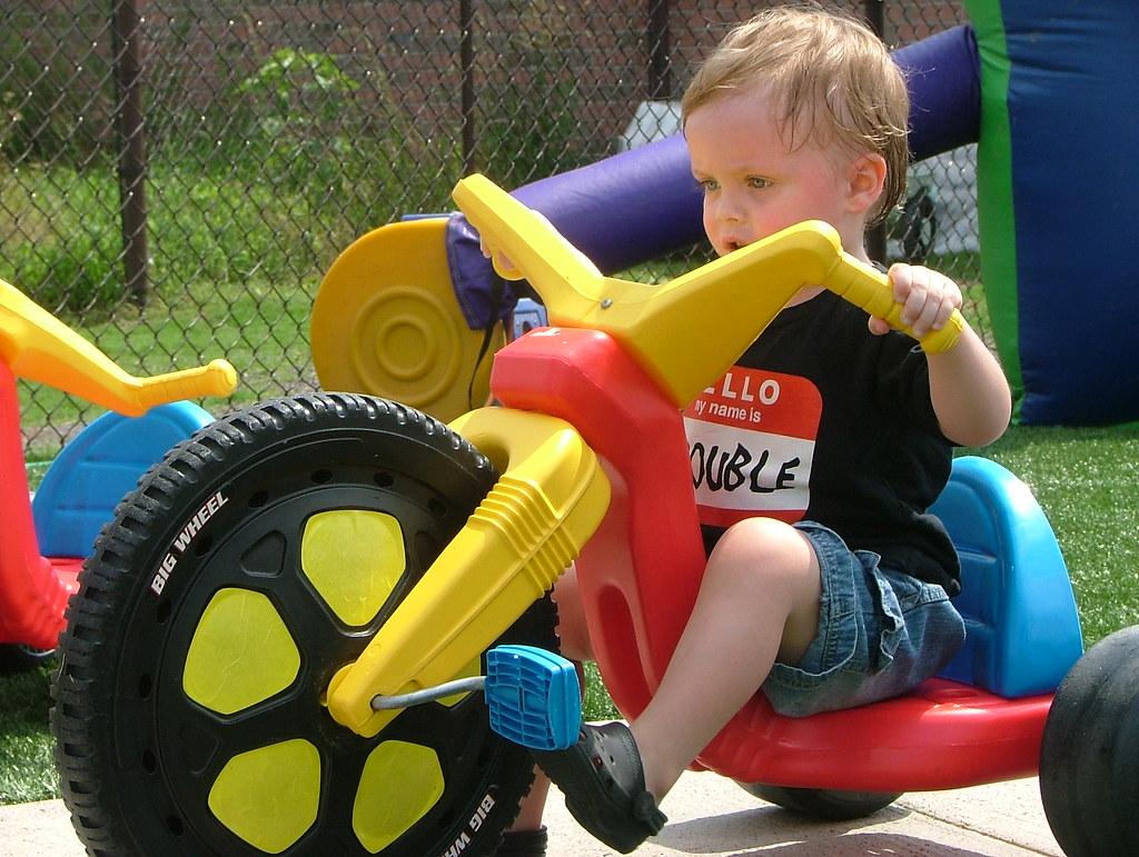 Little man, big wheel