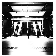 Passage Ways (Burned Out) (philip lepage) Tags: blackandwhite japan tokyo walk tokyointernationalforum yurakucho japaninbw zenzabronicas2 fujipresto