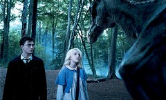 DANIEL RADCLIFFE as Harry Potter and EVANNA LYNCH as Luna Lovegood in Warner Bros. Pictures' Harry Potter and the Order of the Phoenix.