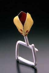 Yellow Enamel Ring (Sarah Hood Jewelry) Tags: flower art jewelry rings enamel artjewelry sarahhood enamelseries
