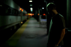 missed the boat... er, train. (Diana Pappas) Tags: nj website trainstation comedian bourne hoboken nightshooting hobokenterminal utatafeature roryscovel albumcovermoment