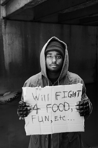 homeless ufc fighter mma photos