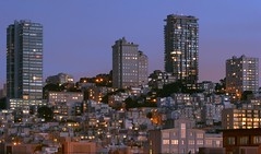 Russian Hill (A Sutanto) Tags: sf sanfrancisco california ca city longexposure blue houses urban usa detail skyline architecture america buildings lights evening apartments metro dusk hill condo tall bluehour slope condominiums packed crowded russianhill supershot superaplus aplusphoto diamondclassphotographer
