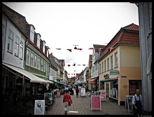 en la calles de Helsingör