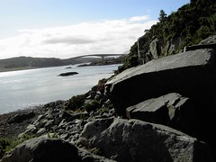 Skye Bridge + rocks (moto748) Tags: from bridge skye kyle lochalsh