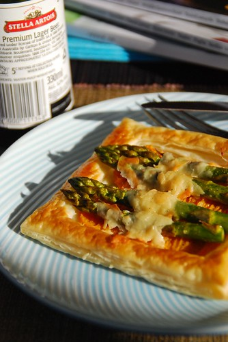 Asparagus and pumpkin tart