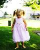 Barefoot in the Grass (Deja Vu Photography (debbieskids)) Tags: 2 girl grass pretty dress naturallight barefoot pigtails lovemydress