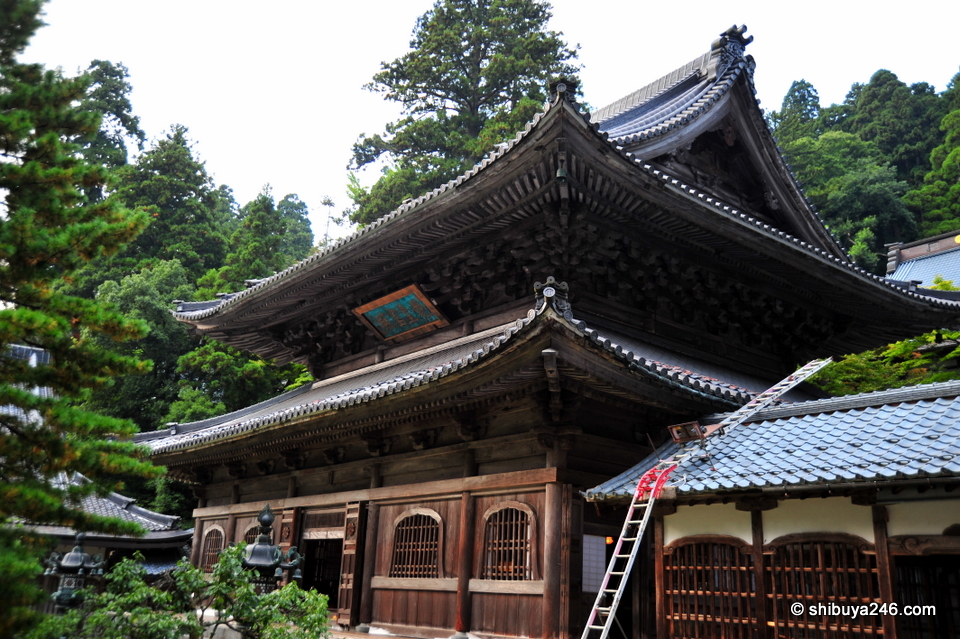 One of the temple buildings