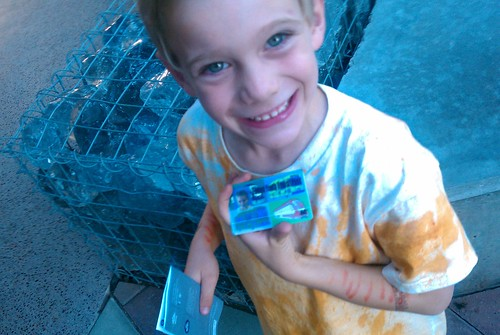 Happy kid with new Tempe transit pass