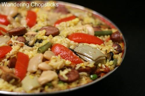 Paella Valenciana (Spanish Valencian Pan Rice) 2