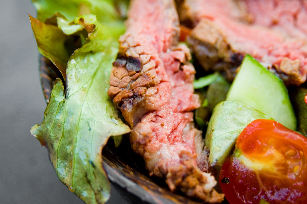 Grilled Spicy Filet Mignon Salad with Ginger-Lime Dressing