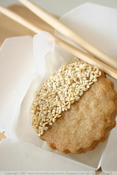 Lemongrass, Ginger and Sesame Biscuits