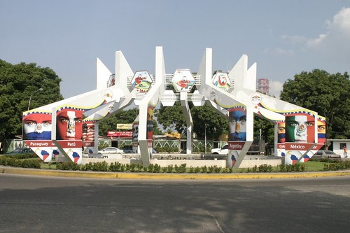 Copa America decorations in Barinas