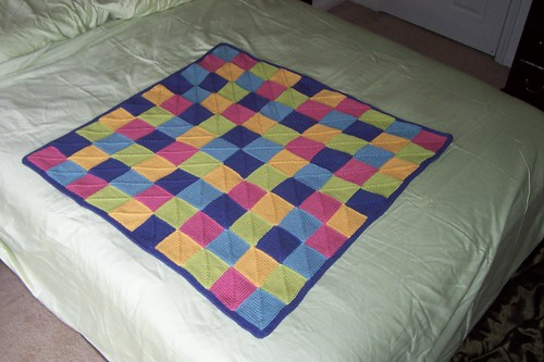 Knitting Pattern For Peggy Squares : Stick-Legged Girl: Cotton-Ease Baby Blanket