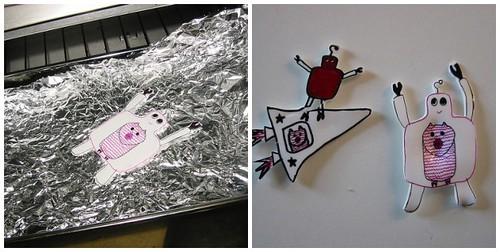 Pink Craftie shrink art