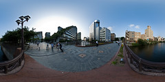 """Acros Hakata"" (heiwa4126) Tags: panorama japan geotagged panoramic fukuoka 360x180 360° hakata hugin nakasu equirectangular d40x geo:lat=335911747 geo:lon=1304033578"