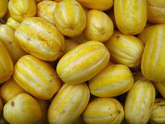 Cucumis melo var. makuwa (Eric Hunt.) Tags: sanfrancisco california food yellow melon ribbed cucurbitaceae cucumis chamoe koreanmelon cucumismelo  cucumismelovarmakuwa