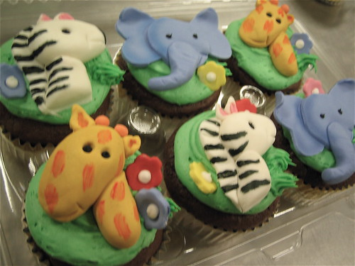 Funny Jungle Cupcake Toppers