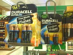 Pack Duracell con promoción itunes