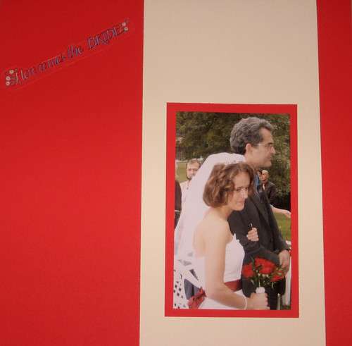 oriona's wedding scrapbook-here comes the bride