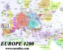 Map of Europe 1200
