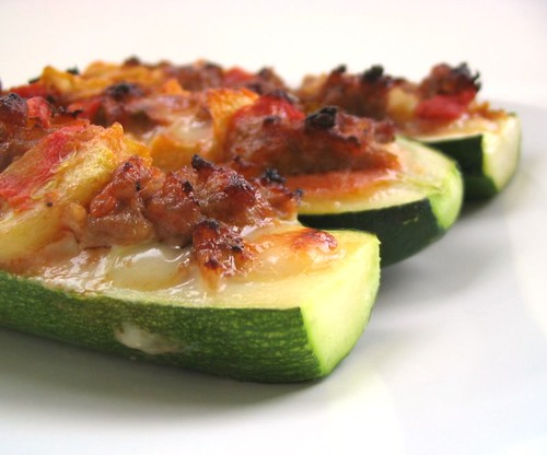 Stuffed Zucchini with Italian Sausage and Cheese