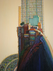 Wayne Thiebaud 1980 'Apartment Hill', Nelson-Atkins Museum of Art, Kansas City, Missouri (hanneorla) Tags: kansascity missouri nelsonatkinsmuseumofart 2007 hanneorla waynethiebaud1980apartmenthill