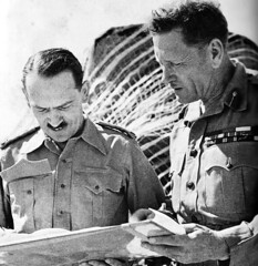 Gen (later FM) Sir Claude Auchinleck with an aide in 1942