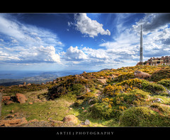 Mount Wellington, Hobart, Tasmania :: HDR (Artie | Photography :: I'm a lazy boy :)) Tags: sky cloud clouds photoshop canon rocks cs2 satellite tripod dramatic wideangle mount wellington tasmania grasses hobart 1020mm hdr transmitter artie mountwellington 3xp sigmalens photomatix radiotransmitter tonemapping tonemap 400d rebelxti