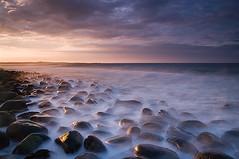 REBORN (Steve Boote..) Tags: longexposure sunset sea seascape coast rocks dusk northumberland northumbria northsea coastline gitzo dunstanburgh embletonbay northeastengland lownewton sigma1770 leefilters samsunggx20 koodfilters steveboote