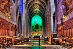 Behind the altar at Grace Cathedral (Jim Nix / Nomadic Pursuits) Tags: sf sanfrancisco california ca travel church choir nikon worship catholic arch gothic chapel stainedglass altar aisle organ service sanfran neogothic pillars pew labyrinth hdr highdynamicrange episcopal nobhill gracecathedral vaultedceiling diocese tonemapped tonemap d40x nomadicpursuits gpsetest