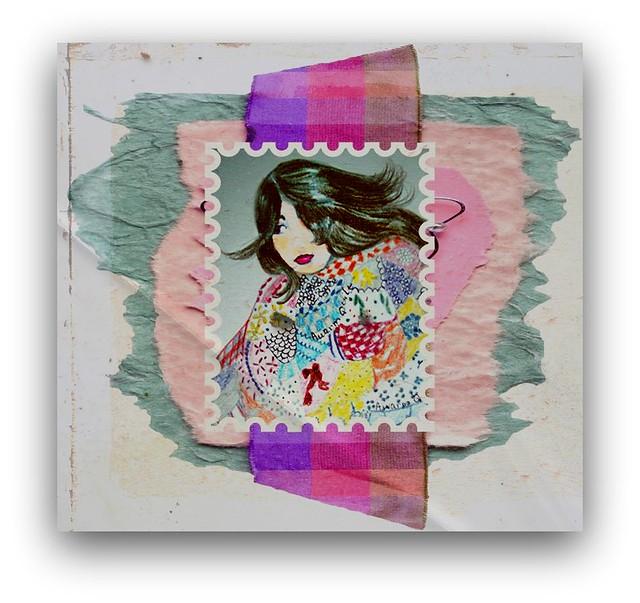 girl in quilt