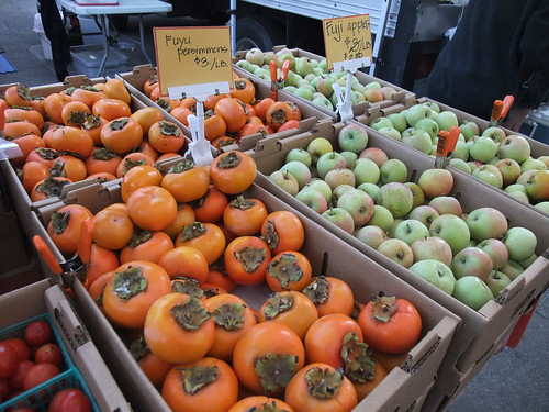 SFO Day 2: Persimmons at the Ferry Plaza Farmers Market