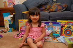 Amanda With Her Gifts