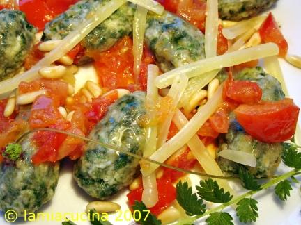 Bibernell-Spinat-Gnocchi