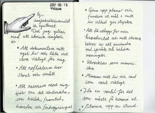 Om dagboksskrivande
