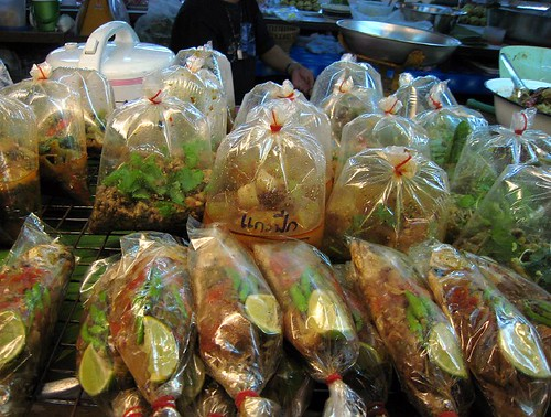 Bags of prepared food