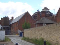 Shepherd Neame brewery from behind