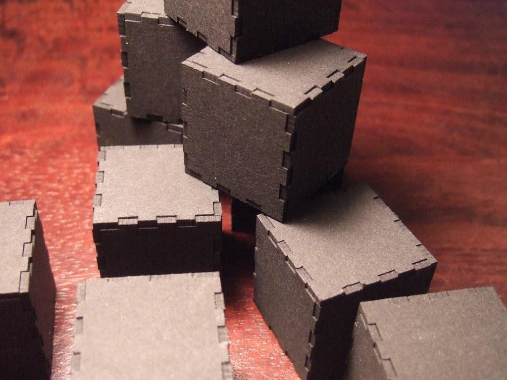 laser cut cubes