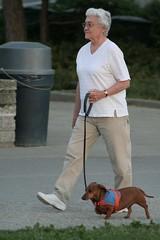 Lady walking her dog (ttstam) Tags: flickr meetup seattleflickrmeetup strobist