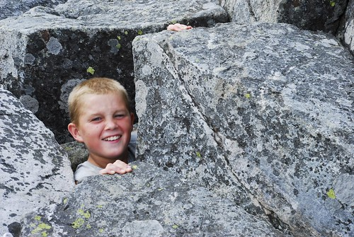 Eli in the Cave on Mount Monadnock
