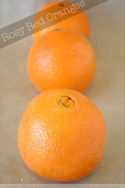 Rosy Red Oranges