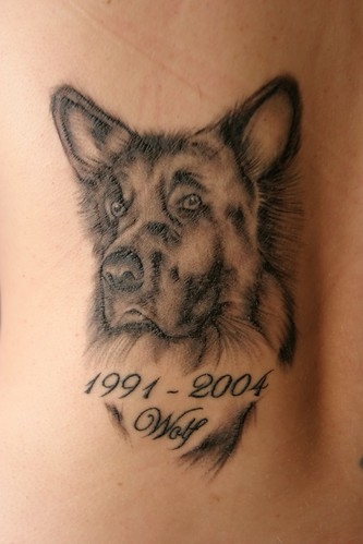 good looking dog too! Labels: Wild Animal Tattoos, Wolf Tattoos