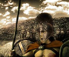 day 300 / 365:   300 (Peter James Zielinski) Tags: nyc newyork men film movie ancient war manhattan helmet battle greece shield 300 spartan 2007 spear pjz project365 365days pjzstudioscom toomuchtimeonyourhandsnerd