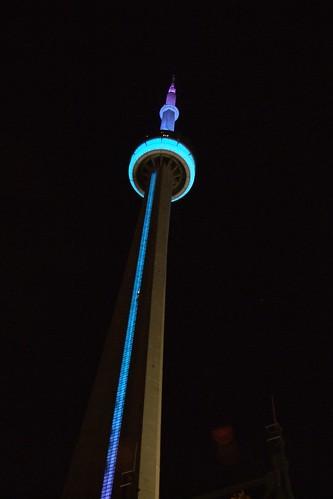 Cn Tower Pink Lights