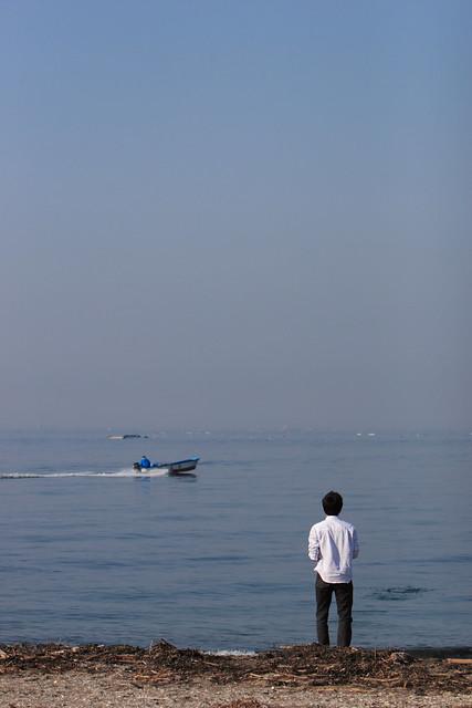 広大な湾内