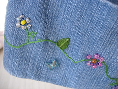 Personalized Capris (mama-bear) Tags: flowers embroidery crafts shessocool misssassy
