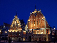 House of the Blackheads (MarcelGermain) Tags: city travel night europe latvia riga blackheads melngalvju letnia marcelgermain